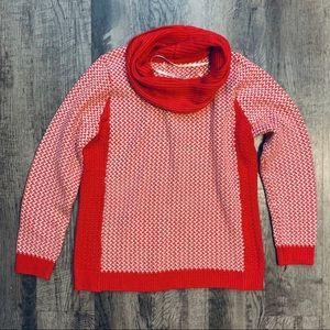 Calvin Klein Red & White Sweater Size Large